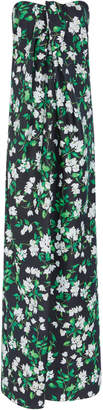 Caroline Constas M'O Exclusive Kaia Bougainvillea Front Tie Maxi Dress