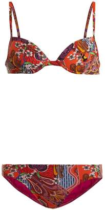 Etro Abstract floral-print bikini