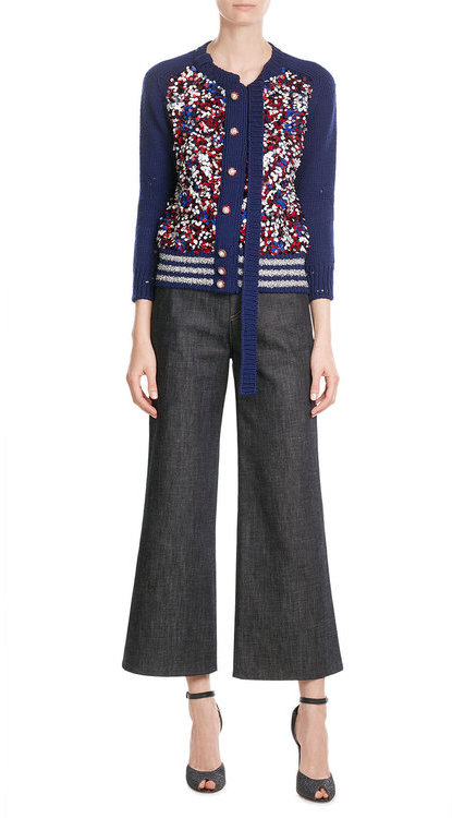 Marc JacobsMarc Jacobs Sequin Wool-Blend Cardigan