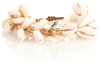 Puka Tohum Design 22kt gold-plated cowry shell bracelet