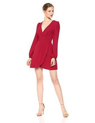 The Fifth Label Women's Chemistry Long Sleeve Draped Mini Wrap Dress