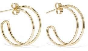Iris & Ink Zhao 18-karat Gold-plated Sterling Silver Hoop Earrings