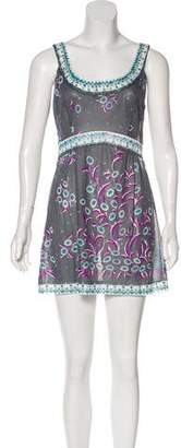 Emilio Pucci Vintage Sheer Mini Dress
