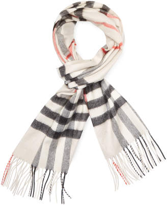 "Burberry Women's Classic Check Cashmere Long Scarf, 67"" x 12"""