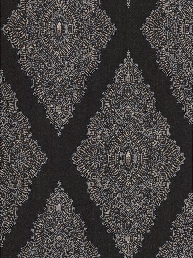 Julien Macdonald Jewel Wallpaper - Black/Gold - ShopStyle
