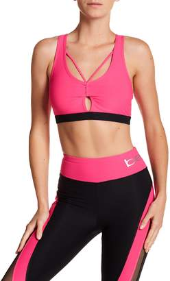 Bebe Keyhole Strappy Back Sports Bra