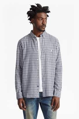 French Connection Flannel Herringbone Gingham Shirt