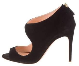 Rupert Sanderson Suede Peep-Toe Sandals