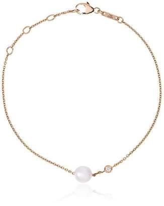 Rosa De La Cruz 18kt yellow gold pearl and diamond bracelet