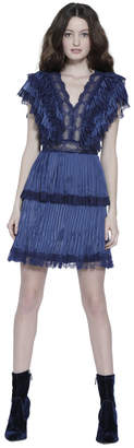 Alice + Olivia Lanora Pleated Tiered Dress