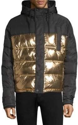 Versace Quilted Metallic Puffer Jacket