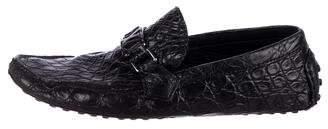 Louis Vuitton Crocodile Monte Carlo Driving Loafers