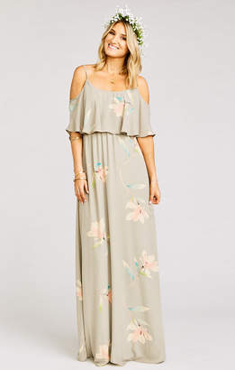 Show Me Your Mumu Caitlin Ruffle Maxi Dress ~ Lily Showers
