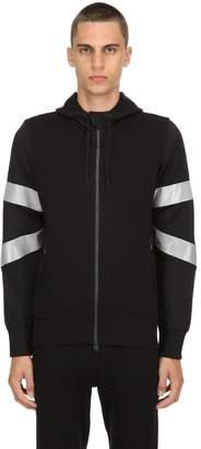 Hydrogen Reflective Zip-Up Sweatshirt Hoodie