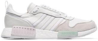 adidas white Never Made Rising Star R1 leather and suede sneakers
