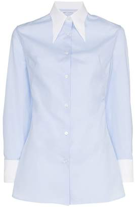 Wright Le Chapelain contrast collar and cuffs cotton shirt