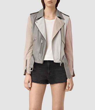 AllSaints Murray Leather Biker Jacket