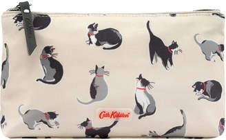 Cath Kidston Small Painted Cats Matt Zip Make up Bag