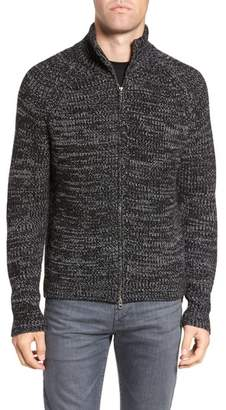 French Connection Zip Wool Blend Cardigan