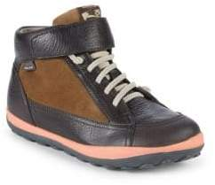 Camper Boy's Peu Pista Leather High-Top Sneakers