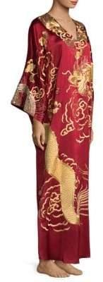 Natori Dragon Silk Caftan