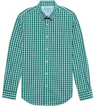 Banana Republic Grant Slim-Fit Luxe Poplin Gingham Shirt