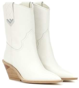 Fendi Leather cowboy boots