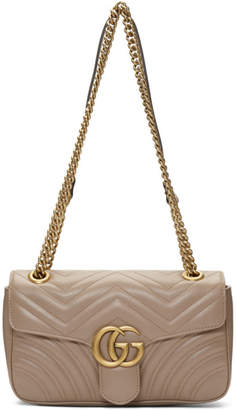 Gucci Taupe Small Marmont Bag