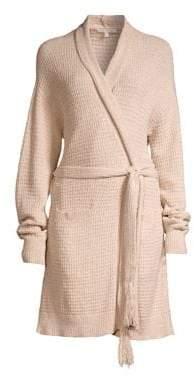 Skin Fiona Knit Cotton Wrap Robe