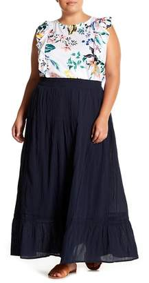 Joe Fresh Ruffle Hem Maxi Skirt (Plus Size)