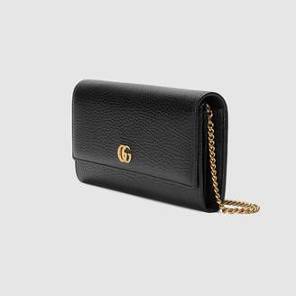 Gucci GG Marmont leather chain wallet