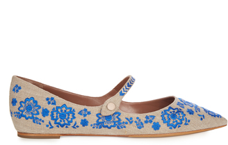 TABITHA SIMMONS Hermione point-toe embroidered flats $515 thestylecure.com