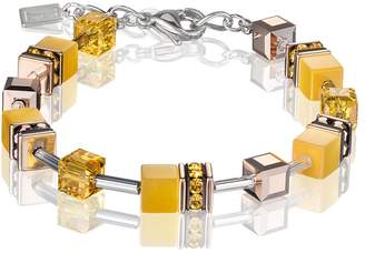 Coeur de Lion Geo Cube Sunflower Yellow Bracelet