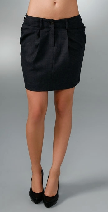 MK2K Ruched Skirt with Pockets