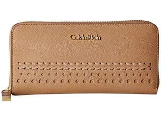 Calvin Klein Saffiano Braid Wallet Wallet Handbags