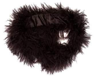 Adrienne Landau Mongolian Fur Collar