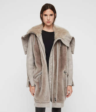 AllSaints State Lux Shearling Parka