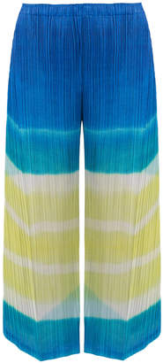 Pleats Please Issey Miyake Watery Stripe Cropped Pants