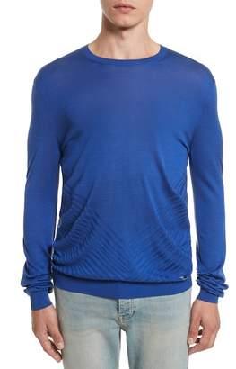 Versace Silk Crewneck Sweater