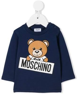 Moschino Kids bear print sweatshirt