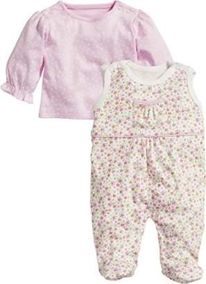 Playshoes Baby Girls' Set Blumen Romper,(Manufacturer Size: 56)