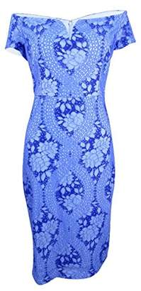 GUESS Women's Shades Lace Off The Shoulder Dress