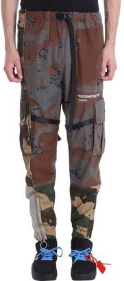 Off-White Off White Reconstructed Cargo Camouflage Cotton Pants