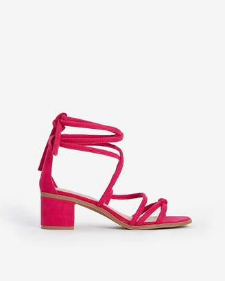 Express Lace-Up Block Heel Sandals