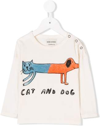 Bobo Choses cat dog print T-shirt