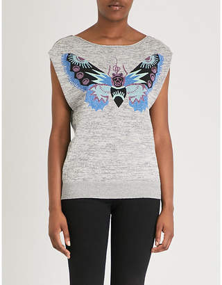 Zadig & Voltaire Butterfly-print cotton-jersey T-shirt