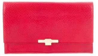Smythson Embossed Leather Travel Wallet