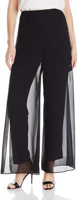 Alex Evenings Women's Chiffon Overlay Pant