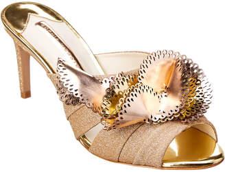 Sophia Webster Soleil Glitter Leather Sandal