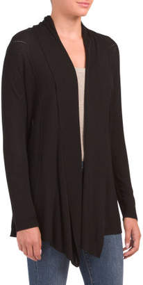 Drape Open Front Texture Cardigan